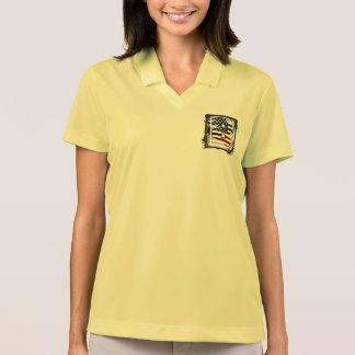 USA Flag American Initial Monogram B Polo T-shirt