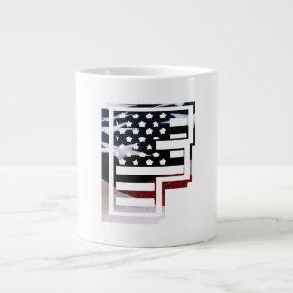 USA Flag American Initial Monogram F Jumbo Mug