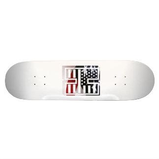 USA Flag American Initial Monogram H 21.3 Cm Mini Skateboard Deck