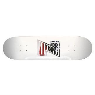 USA Flag American Initial Monogram Z Skateboard