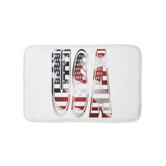 USA Flag American Logo Bath Mat