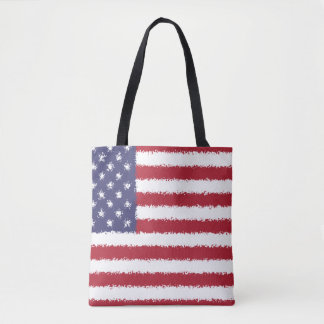USA Flag American Patriotic Tote Bag
