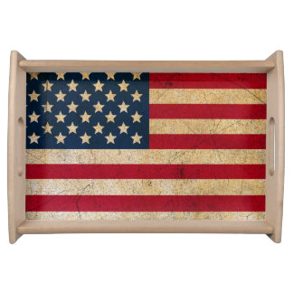 USA Flag Americana Premium Serving Tray