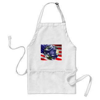 USA Flag and Earth Standard Apron