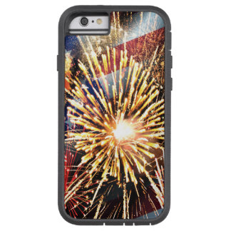 USA Flag and Fireworks Tough Xtreme iPhone 6 Case