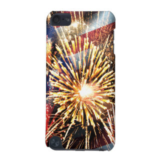 USA Flag and Fireworks iPod Touch (5th Generation) Cover
