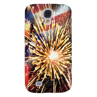 USA Flag and Fireworks Galaxy S4 Case