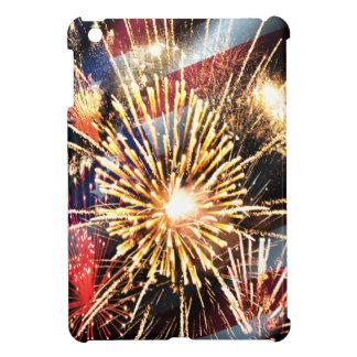USA Flag and Fireworks Case For The iPad Mini