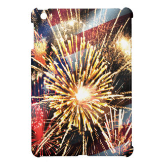 USA Flag and Fireworks Case For The iPad Mini