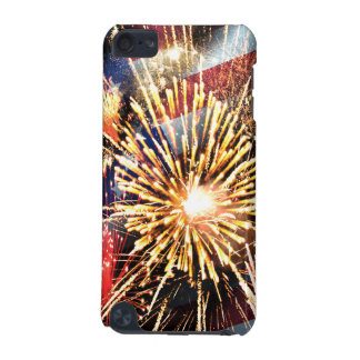 USA Flag and Fireworks iPod Touch (5th Generation) Covers