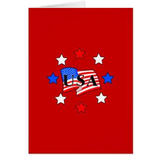 USA Flag and Stars Cards