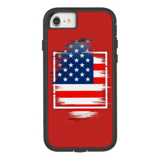 USA Flag Apple iPhone 7, Tough Xtreme Phone Case