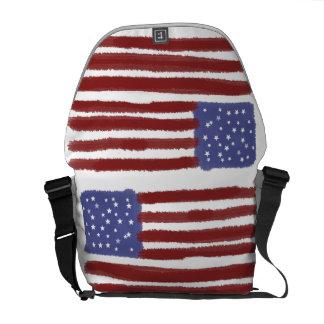 USA flag bag Courier Bags