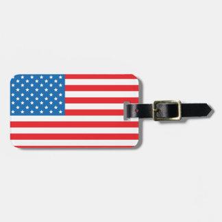 USA Flag Baggage Tag