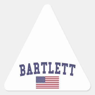 USA Flag Bartlett TN Triangle Sticker