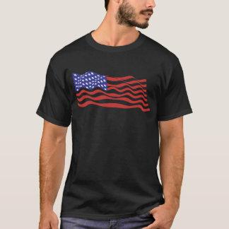 USA Flag Basic Dark T-Shirt