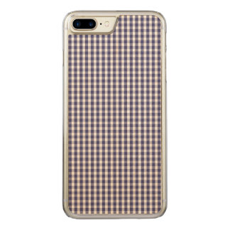 USA Flag Blue and White Gingham Checked Carved iPhone 8 Plus/7 Plus Case