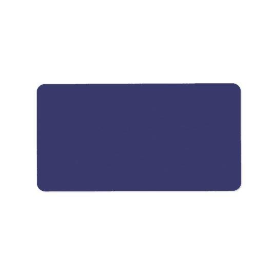 USA Flag Blue Royal Blue Deep Blue Address Label