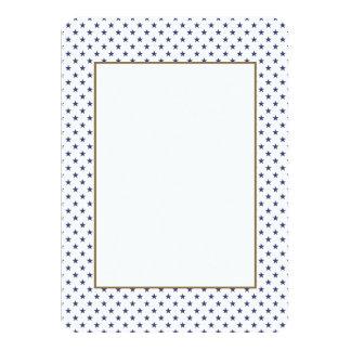 USA Flag Blue Stars on White 11 Cm X 16 Cm Invitation Card