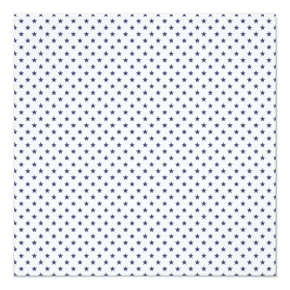 USA Flag Blue Stars on White 13 Cm X 13 Cm Square Invitation Card