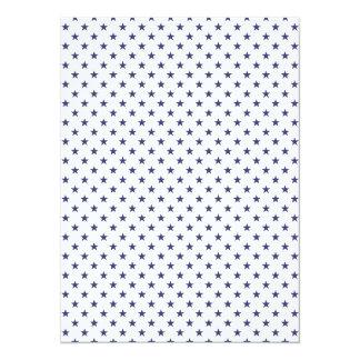 USA Flag Blue Stars on White 14 Cm X 19 Cm Invitation Card