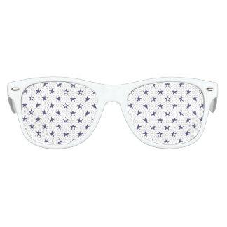 USA Flag Blue Stars on White Kids Sunglasses