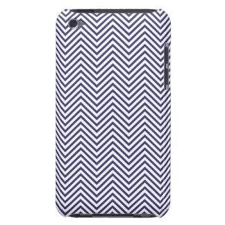 USA Flag Blue & White Wavy ZigZag Chevron Stripes iPod Case-Mate Case