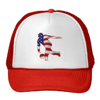 USA Flag Bowling Player Cap