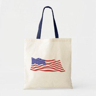 USA Flag Budget Tote Canvas Bag