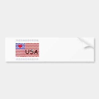 USA FLAG -bumper sticker Bumper Sticker
