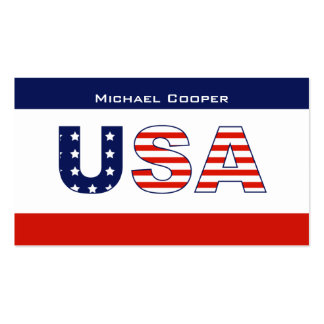 USA Flag Business Card Stars Stripes