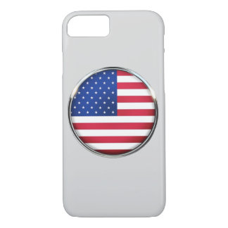 USA Flag Button iPhone 7 Barely There Case
