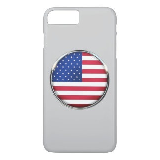 USA Flag Button iPhone 7 Plus Barely There Case