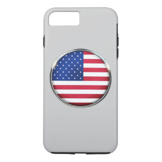 USA Flag Button iPhone 7 Plus Tough Case