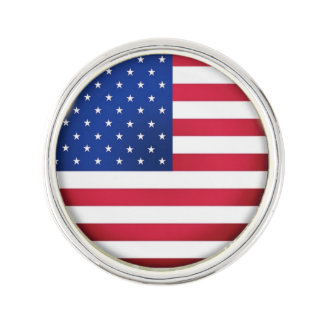 USA Flag Button Lapel Pin