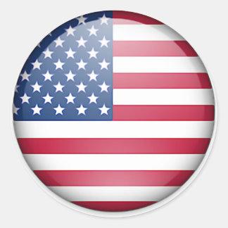USA flag button Round Sticker
