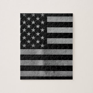 USA Flag BW Jigsaw Puzzle