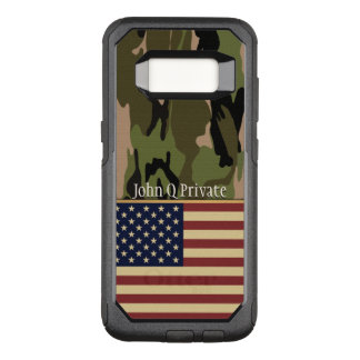 USA Flag Camo Name Template OtterBox Commuter Samsung Galaxy S8 Case