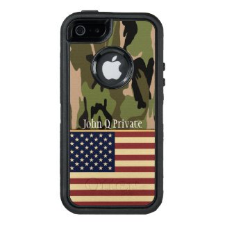 USA Flag Camo Name Template OtterBox iPhone 5/5s/SE Case