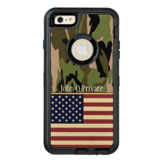 USA Flag Camo Name Template OtterBox iPhone 6/6s Plus Case