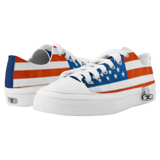 USA Flag Canvas Shoes Printed Shoes