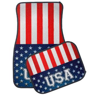 USA Flag Car Mat