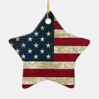 USA Flag Ceramic Star Decoration