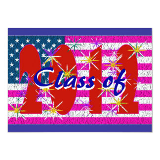USA flag Class of 2012 reunion party Card