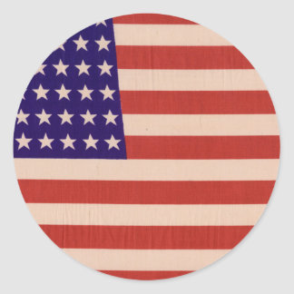 USA Flag Classic Round Sticker