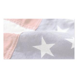 USA flag close up business card