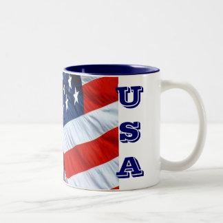 USA Flag Coffee Mug