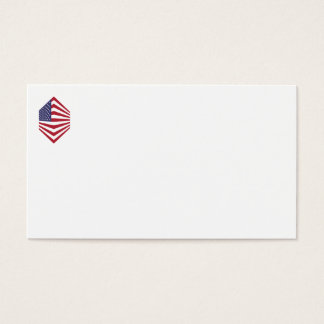 Usa Flag Corner Business Cards