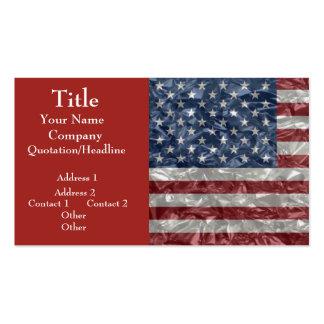 USA Flag - Crinkled Pack Of Standard Business Cards