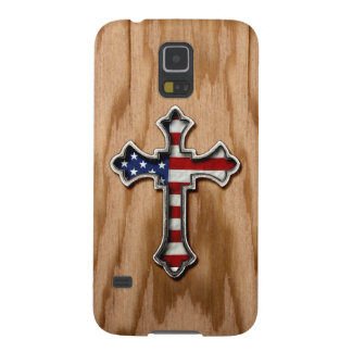 USA Flag Cross Galaxy S5 Cover